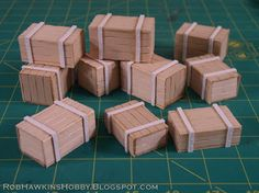Rob Hawkins Hobby: Terrain Tutorials: crates Great way to bring your freight yard to life or depot!