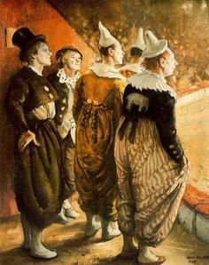 """Clowns"" by Dame Laura Knight, 1957"