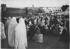 Rabat   Fêtes de El Achour, premier mois de l'année : la foule   1917