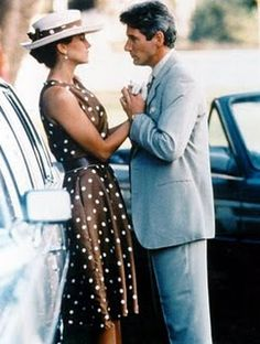 Pretty Woman .... I love how she looks distressed, spits out her gum and walks off with a fake smile. Julia, you were awesome in this movie!