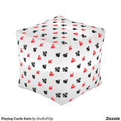 Playing Cards Suits Pouf