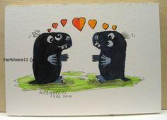 Tiere und Kunst von Herbivore11 - Verliebte Maulwürfe