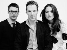 Matthew Goode, Benedict Cumberbatch y Keira Knightley para In Style, durante el Toronto International Film Festival 2014.