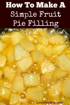 How To Make A Simple Fruit Pie Filling. Recipes for regular or CARAMEL. Options to use various fruit such as apples, pears, berries. Very easy, 1 pan recipe. Perfect for pies or as a dessert sauce Fruit Recipes, Cooking Recipes, Apple Recipes, Dessert Recipes, Delicious Desserts, Recipies, Peach Pie Filling, Easy Pie Filling Recipe, Filling Food
