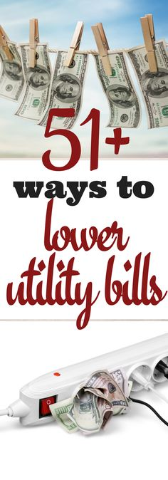 You're probably paying more than you should for heat, hot water and power. Here are 51+ ways to get control over that monthly expense. via @justplainmarie Tips On Saving Money, Tips To Save Money, Save Money On Groceries, Make More Money, Ways To Save, Money Hacks, Saving Ideas, Saving Electricity, Electricity Bill