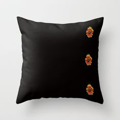 Sunflowers Throw Pillow by Dawn OConnor - $20.00