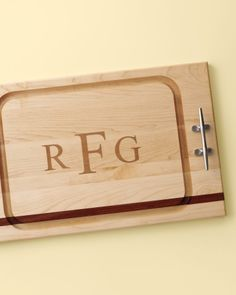 This custom cutting board would class up any kitchen