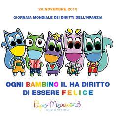 Oggi è la giornata mondiale dei diritti dell'infanzia!