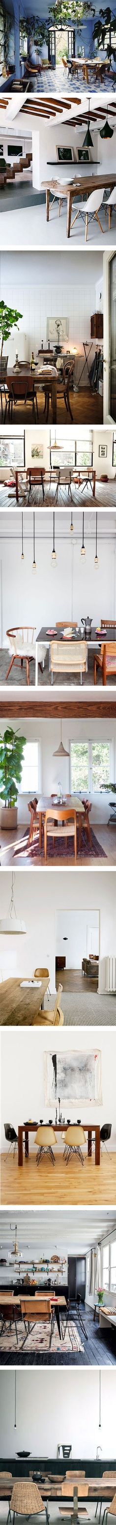 10 home spaces we'd love to dine in on Nuji.com #homedecor #dining #interiors