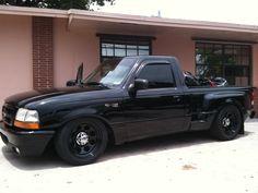 "1997 Ford Ranger - ""It& lowered and stuff. Custom Pickup Trucks, Ford Pickup Trucks, Jeep Truck, Chevrolet Trucks, 1957 Chevrolet, 4x4 Trucks, Diesel Trucks, Chevrolet Impala, Lifted Trucks"