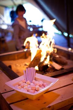 Marshmallows for toasting by the tipi fire pit - cosy AND yummy!