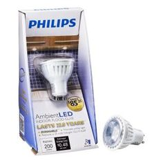 Philips AmbientLED (TM) 35W Replacement (4W) MR16 LED Light Bulb with GU10 Base - Warm White (3000K)  $22.95 Recessed Lighting Fixtures, Light Fixtures, Led Ceiling, Ceiling Lighting, Led Track Lighting, Lamp Light, Light Bulb, Led Flood Lights, Led Lamp