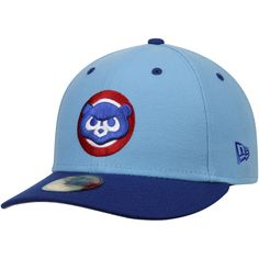 Men's Chicago Cubs New Era Light Blue/Royal 2-Tone Cooperstown Low Profile 59FIFTY Fitted Hat | MLBShop.com