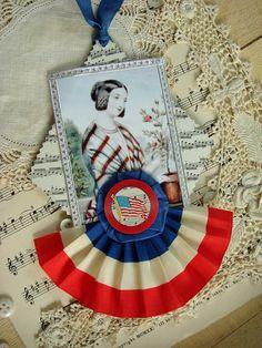 patriotic tag...uses poker chip!