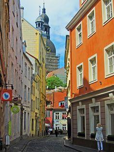 Barrio en Riga, Letonia.