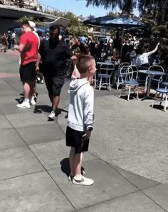 Stormtroopers play along with kid
