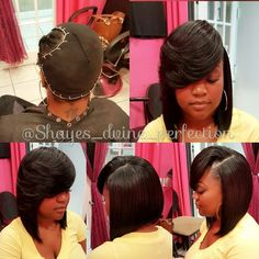 Sew In Bob Hairstyles, Dope Hairstyles, Black Girls Hairstyles, Quick Weave Hairstyles Bobs, Braided Hairstyles, Big Natural Hair, Natural Hair Styles, Birthday Hair, Hair Game