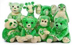 green stuffed animals