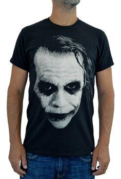 JOKER Heath Ledger Tshirt cotone Organico stampa ad Acqua Euro 19,00