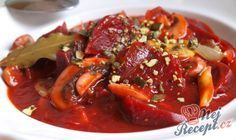 Červená řepa po burgundsku Tiramisu, Easy Dinner Recipes, Salad Recipes, Entrees, Main Dishes, Food And Drink, Healthy Eating, Cooking Recipes, Vegetarian
