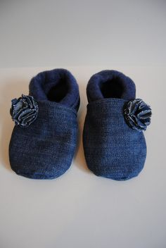 """Babyschuhe """"Jeans"""", babyshoes made from recycled jeans"""