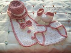 Crochet Handmade Tuxedo  Cute and oh soo adorable. Perfect little outfit for her first time pictures. This little outfit comes with everything shown in the pictures. Top hat, bit and booties. Not wanting the color shown, order it in any colors you would like. Upon purchasing just leave a note with the colors you would like. Made with quality soft yarn for comfort.   Sizes:  Newborn 0-3 Months