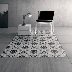 Плитка Cementine Black White Fioranese (Италия), черно-белая плитка Чементине стиле пэчворк