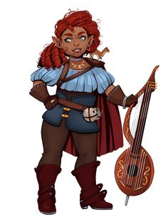f Dwarf Bard Lt Armor Cloak Lute Weasel Companion lg Fantasy Concept Art, Fantasy Character Design, Character Creation, Character Concept, Character Inspiration, Character Art, Character Ideas, Dungeons And Dragons Characters, D D Characters