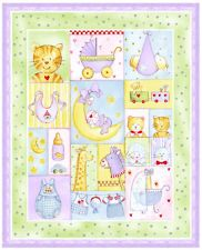 Alphabet Zoo by Springs - Patchwork jb quilting fabrics | BABY ... : baby cot panels for quilting - Adamdwight.com