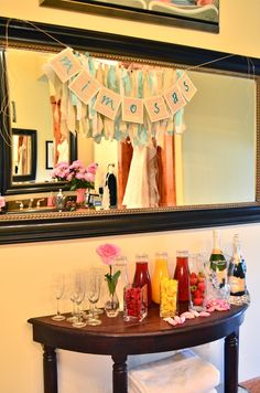 Mimosa Bar.  Perfect for the brides room!