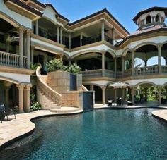 Mansions – Luxury Homes ! – Home Decor Ideas – Interior design tips Beach House Plans, Beach Design, Big Houses, Dream Houses, Fancy Houses, House Goals, Life Goals, My Dream Home, Exterior Design