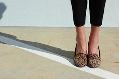 Still kind of dying over a pair of leopard sloafers for fall...