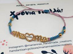 Βραχιολάκι για τη μαμά με κάρτα – HandArtisan Bracelets, Jewelry, Jewlery, Jewerly, Schmuck, Jewels, Jewelery, Bracelet, Fine Jewelry