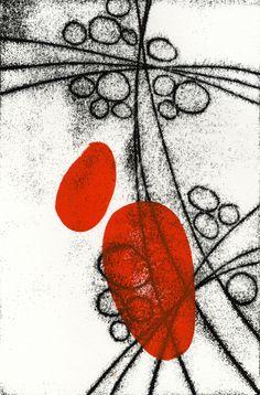 Himitsu (Secret) 3 by David Owen Hastings, monoprint Zine, Red Artwork, Ecole Art, Encaustic Art, Art Graphique, Elements Of Art, Mail Art, Art Plastique, Fabric Painting