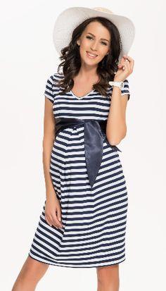 Sukienka ciążowa Cety II Paski