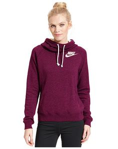 Nike Rally Funnel-Neck Sweatshirt Hoodie - Macys