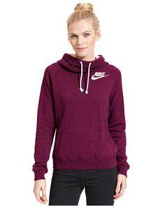 Nike Rally Funnel-Neck Sweatshirt Hoodie - Macys