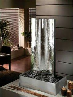 Agua Water Wall Fountain, Indoor Fountain, Feng Shui, Water Curtain, Indoor  Water