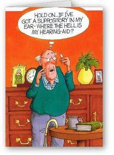 Cartoon Jokes, Funny Cartoons, Funny Comics, Funny Jokes, Hilarious, Deaf Jokes, Comedy Cartoon, Funny Humour, Old People Jokes