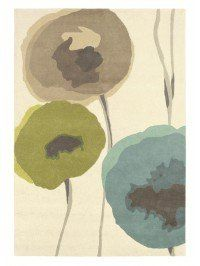 Poppies Teal-Olive 45701
