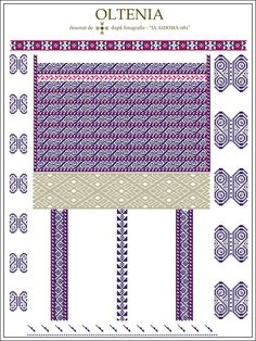 Semne Cusute: IA AIDOMA 081 - Mehedinti, Oltenia, ROMANIA Embroidery Motifs, Learn Embroidery, Floral Embroidery, Embroidery Designs, Cross Stitch Flowers, Cross Stitch Patterns, Palestinian Embroidery, Cross Stitching, Beading Patterns