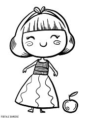 #snowwhite #coloring #coloringpages #printables  #activitiesforkids #disegni #biancaneve  Stampate i nostri disegni di Biancaneve su Portale Bambini.