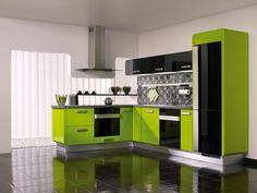 Modern lime green kitchen ideas