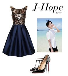 """Outfit when you are MC of big award and will deliver the prize to the BTS (you're girlfriend of them) JH"" by effie-james ❤ liked on Polyvore featuring art, simple, kpop, korean, bts i Jhope"