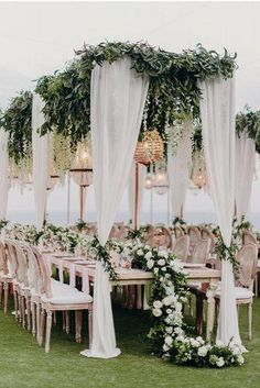 20 Simpale White and Greenery Wedding Color Ideas – Deer Pearl Flowers – Wedding Colors & Ideas 20 Simpale White and Greenery Wedding Color Ideas greenery outdoor wedding table decor Outdoor Wedding Tables, Wedding Ceremony, Outdoor Weddings, Outdoor Wedding Canopy, Outdoor Tent Wedding, Beach Wedding Reception, Wedding Sparklers, Wedding Receptions, Star Wedding
