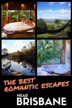"""Looking for a romantic getaway from Brisbane? I have a few to suggest! My recipe for romantic escapes: just the two of us, nature and """"luxury"""". Visit my blog for details!"""