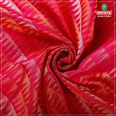Nature's favourite colour green when combined with golden and silver #zari creates this enchanting pink #Kanchipuram #silksaree. The unique designs on the borders and weaves reflect the magic of art work. #kanchipuramsilks #silk #saree #pothys #kanchipuramsilksaree #weddingsaree #silksaree #pattusaree #redsilksaree