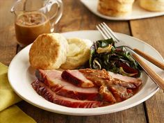 Molasses-Glazed Ham with Bacon Red-Eye Gravy