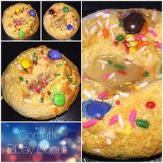 "Who would think that Confetti BDay Donut cake would be/ could be healthy?! YESSSS!!! And filling too!!! ""The Chosen One"" high protein (26grams) donut cakes feel so sinful but yet they are 100% #guiltfree!!! A healthy treat!!!  u really can't ask for more! Curves your appetite too!!! #lowcarb #sugarfree#lowfat #lowcalorie #highproteinpastries #winwin #nojunkigredients #fitspo #fitlife #fitfam #igcakeporn #igfitfam #gymlife #balancednutritionforlife #miforlife #thechosenone #foodformood…"