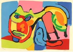 My picture in the dining room - Karel Appel Modern Ltd Ed Cat 1969 Serigraph Print
